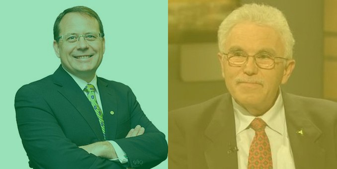 Mike Schreiner and Allen Small - Ontario Election