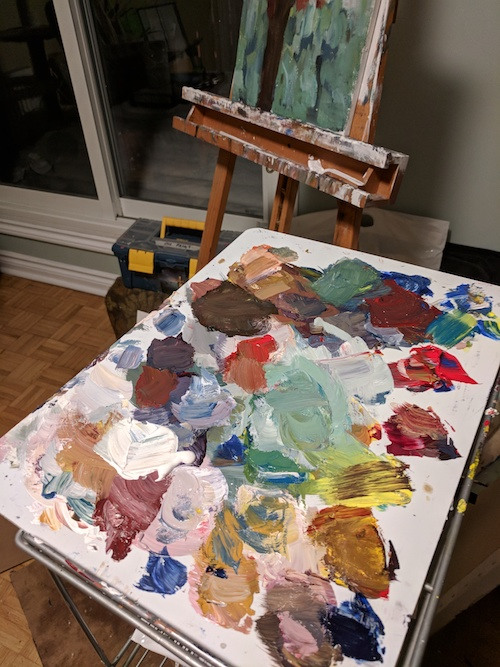 My palette in its natural state.