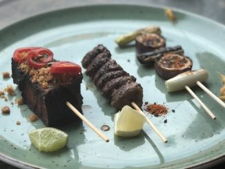 Mixed Grill - your choice of three skewers. 