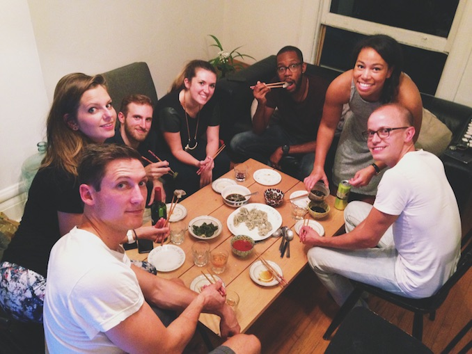 Hosting a dumpling party in my living room! One of my favourite activities.