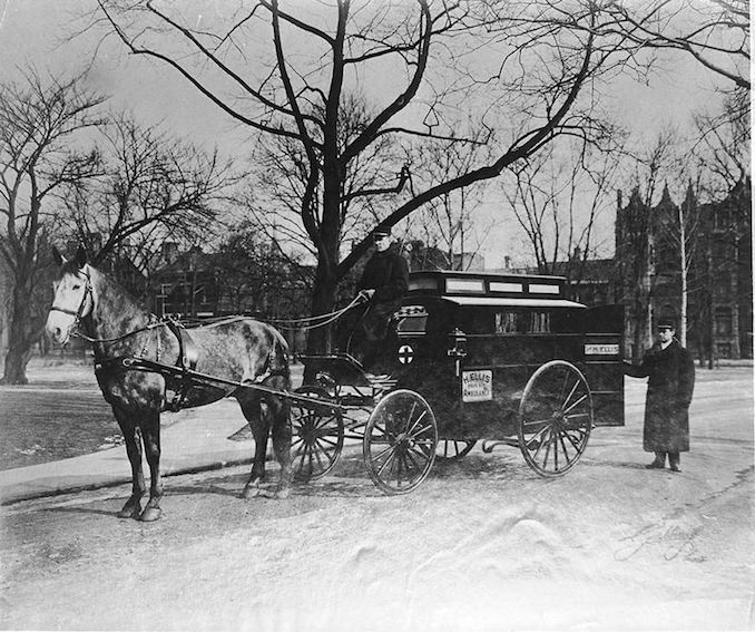 Paramedics - 1905 - H. Ellis private ambulance