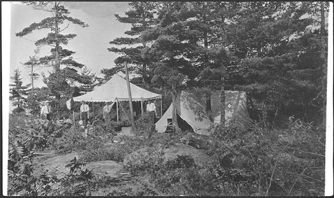Vintage Ontario - 1910 - Camping scene, Georgian Bay, Ontario