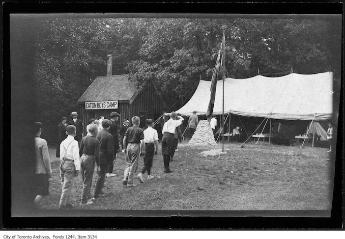 Vintage Ontario - 1911 - Eaton Boys' Camp