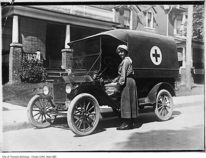 Paramedics - 1915 - Canadian Red Cross ambulance