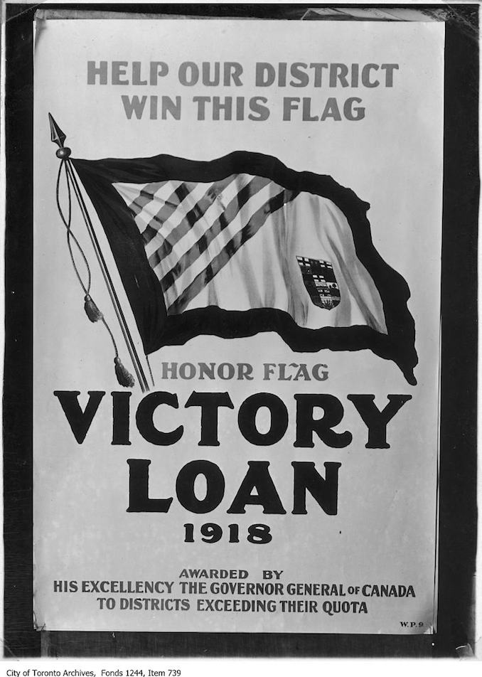 1918 - Poster advertising victory loan drive