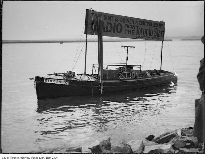 1920 - Toronto Star radio-controlled boat