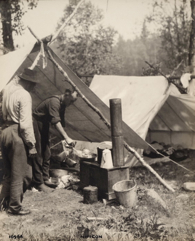 Vintage Ontario - 1925 - H. Armstrong Roberts - Men cooking at camp