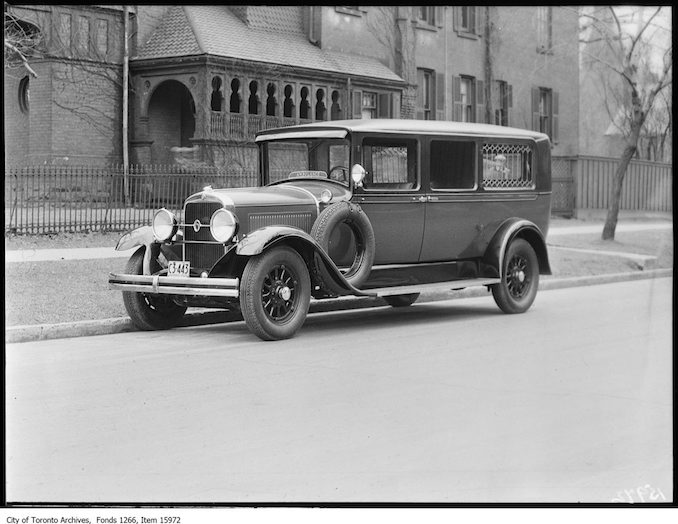 1929 - march 22 - New police ambulance, front