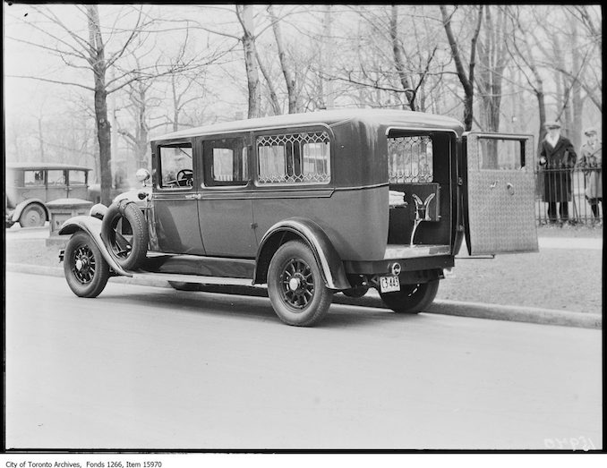 1929 - march 22 - New police ambulance, rear