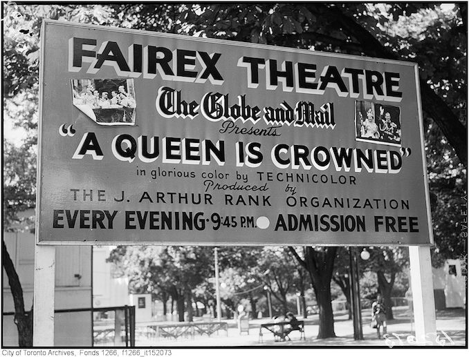 1953 - Poster advertising the Queen being crowned