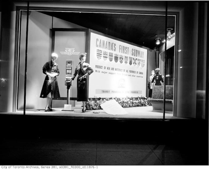 1954 - T. Eaton Co. and Robert Simpson Co. Ltd. window displays