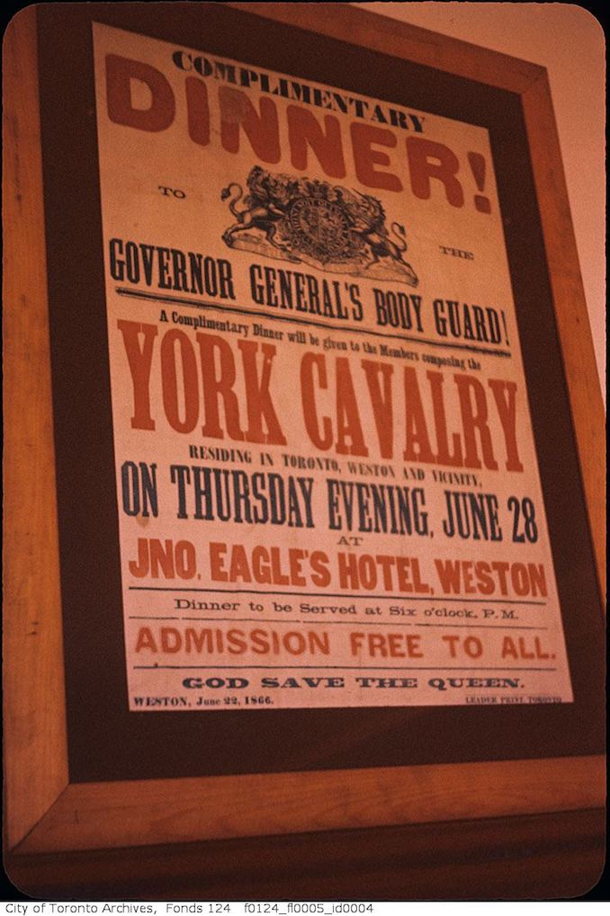 1958 - York Calvary dinner at Eagle Hotel, Weston, poster advertisement