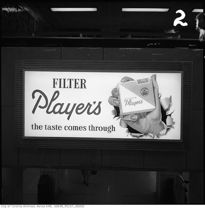 1961 - Advertising signs at Bloor