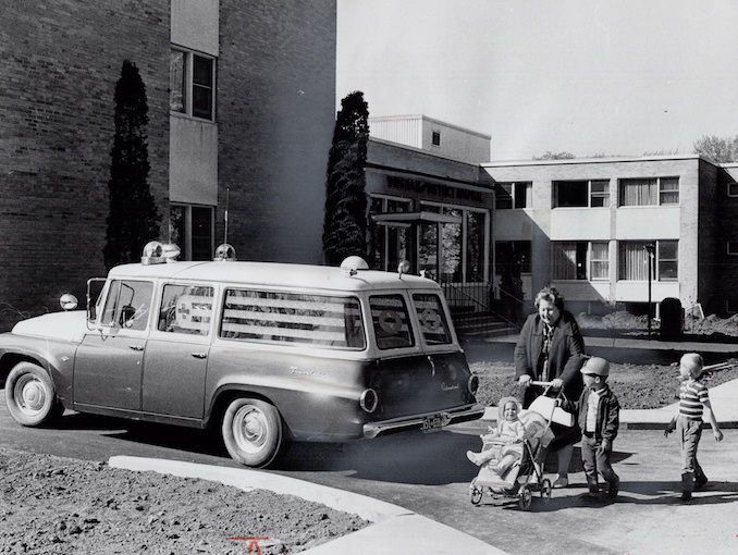 1967 - Norman James - The 106-bed wingham district hospital and Ambulance. It has no resident doctor. Doctors are there from 9 a.m. to noon
