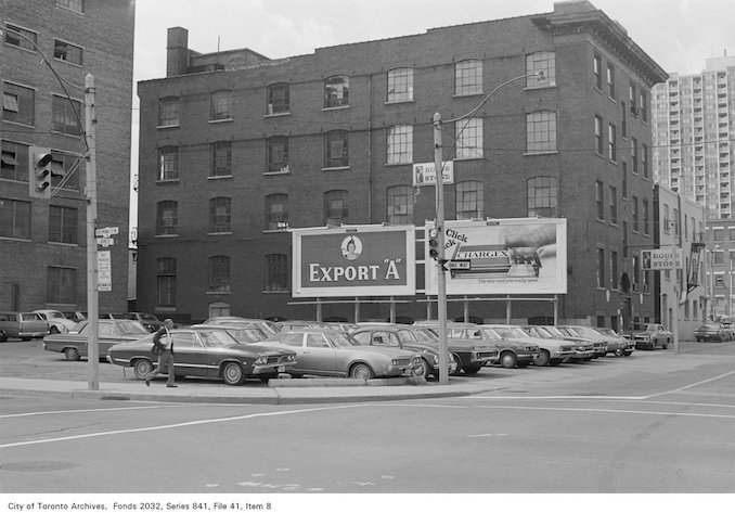 1972 - Corner of John St. and Richmond St., looking north-west