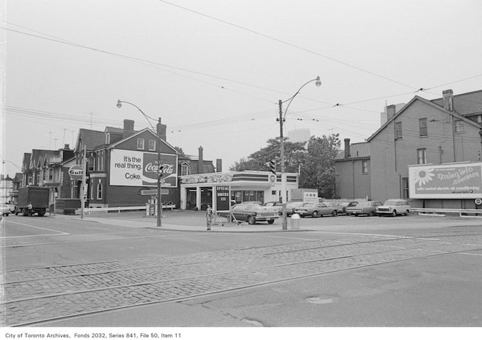 1972 - Corner of Sherbourne St. and Dundas St., looking south-west