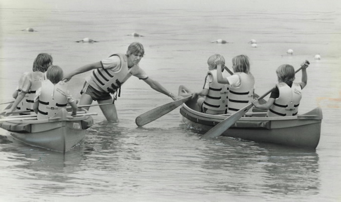 1980 - Mike Slaughter - Kids at the Salvation Army's Camp spend 10-day sessions at Lake Simcoe - canoeing and swimming