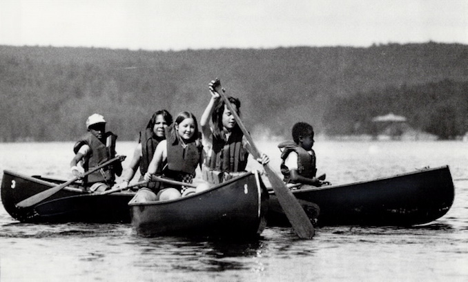 1985 - Mike Slaughter - Canoe training - Canoeing is a highlight at Illahee Northwoods - a camp for children with medical conditions