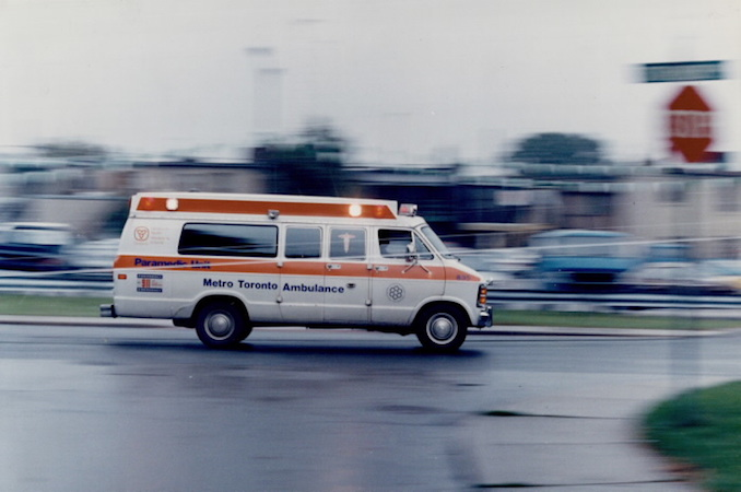 1986 - Bernard Weil - Metro paramedi and ambulance crews are front-line pros in a crisis