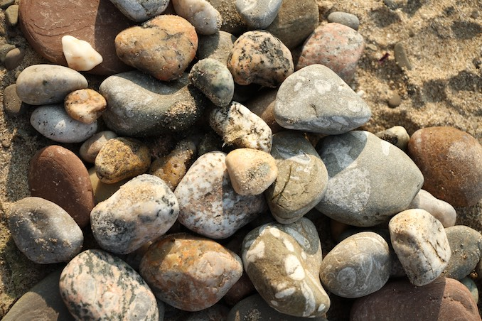 Collecting rocks at the beach for my other play Prophecy Fog (coming to the Theatre Centre in May 2019)