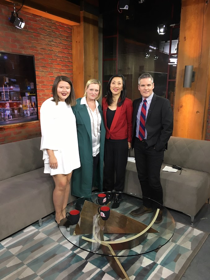 Visiting CP24 with Sarah to promote the Made Inland Pop-Up shopping event in Toronto (find us there this year Sept. 21 - 22nd)