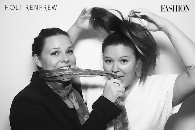 Having fun at the Fashion Magazine X Holt Renfrew Bash with my sister and Brand Manager Lindsay Ditkofsky