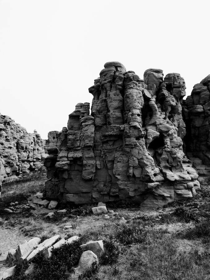 Looking at some hoodoos in southern Alberta. Doing some field recordings in the area.