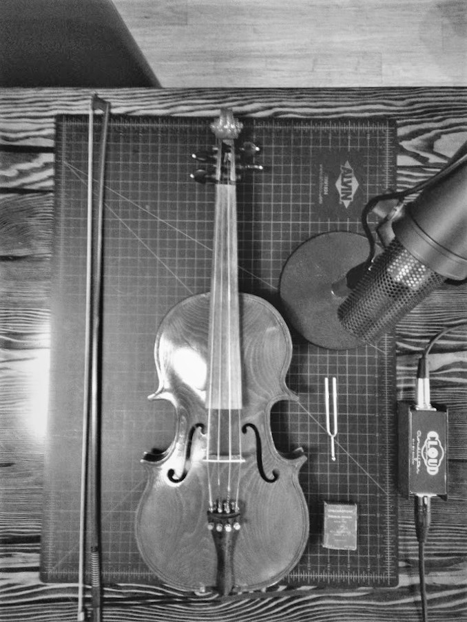 5 Hunting for sounds in a fiddle passed down to me from my great uncle.