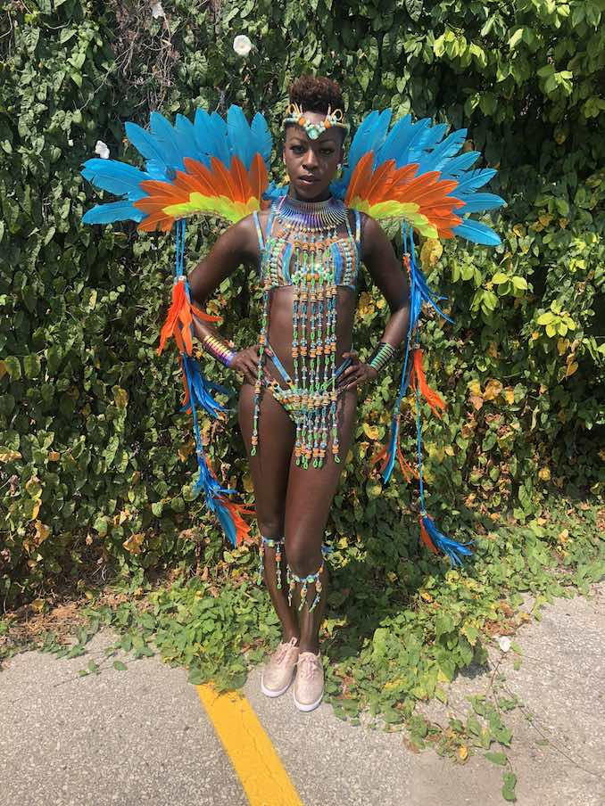 Celebrating Caribana in the Gaia Section of Carnival Nationz.