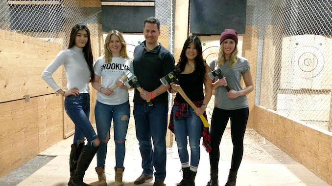 Axe throwing with the fam jam. I'm the most dangerous with the axe...apparently you shouldn't mess with me ;)