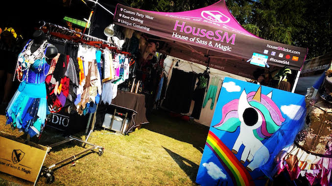 The House of Sass & magic booth set up at Shambhala Music Festival in Salmo British Columbia. This is one of my favourite places on earth. We have vended at this festival for 5 years and this summer was one of our best years on the farm. Photo Cred: Suzan Mazur - August 2018