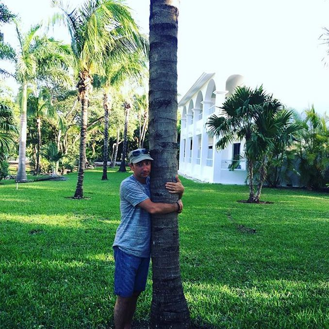 On the Mayan Riviera, getting strength from a palm