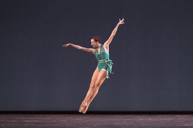 Choreographer Justin Peck's easy breezy ballet, Paz de la Jolla.