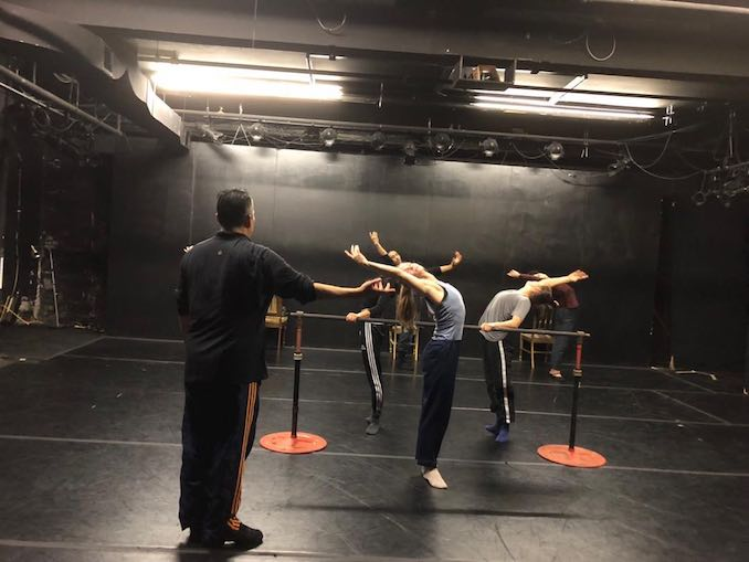 A Red Sky warm-up in ballet class with former New York City Ballet principal dancer Jock Soto for rehearsal at Pia Bouman School of Ballet and Creative Movement.