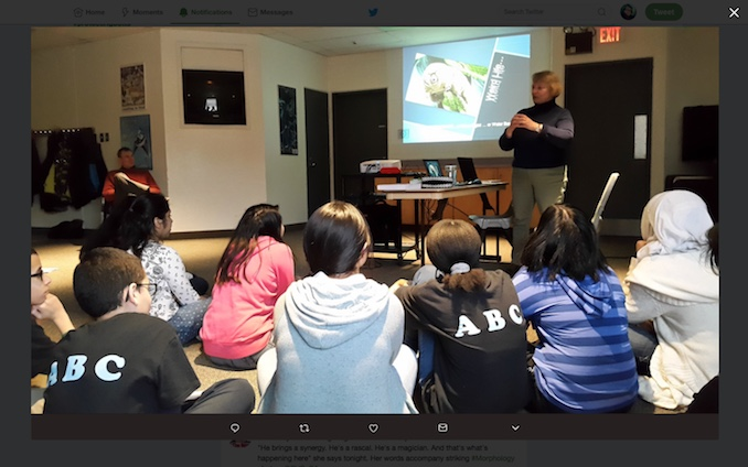 Nina teaching Grade 8 students in Mississauga about water