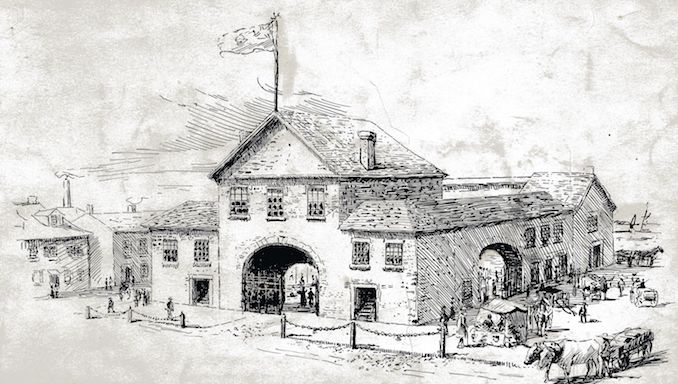 1848 - original building, destroyed in The Great Fire