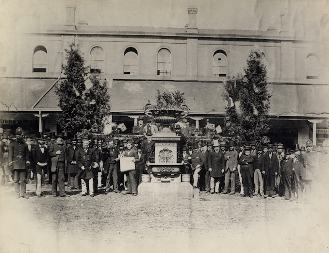 1877 - north market fountain unveiling