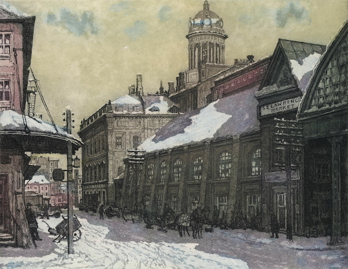 1943 - Nicholas Hornyansky, looking north up market street