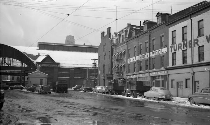 1953 - south market, in snow