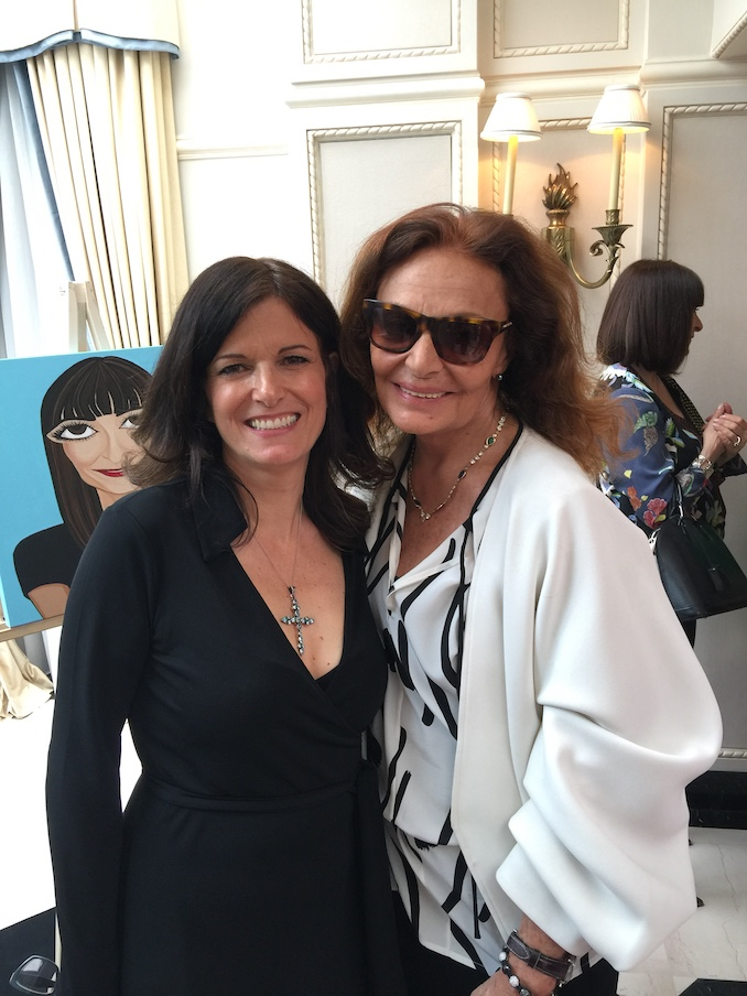 Michelle with Diane von Furstenberg at Suzanne Rogers Presents DVF May 2017.