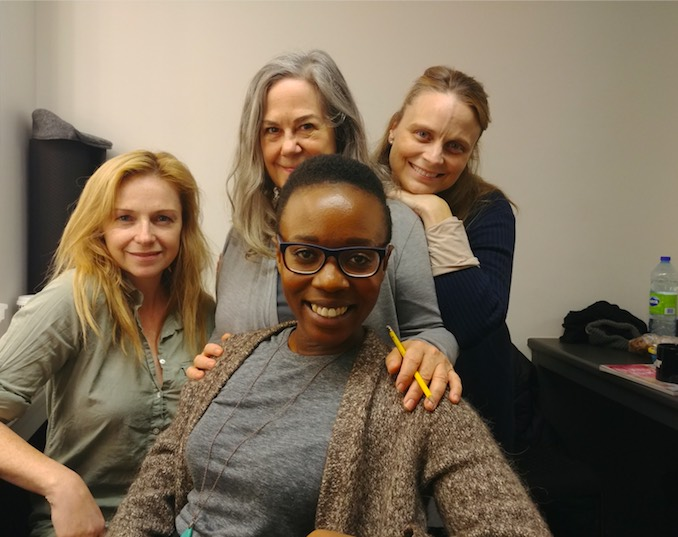 My beautiful cast mates- Natasha Mumba, Fiona Byrne, Corrine Koslo and Claire Julien
