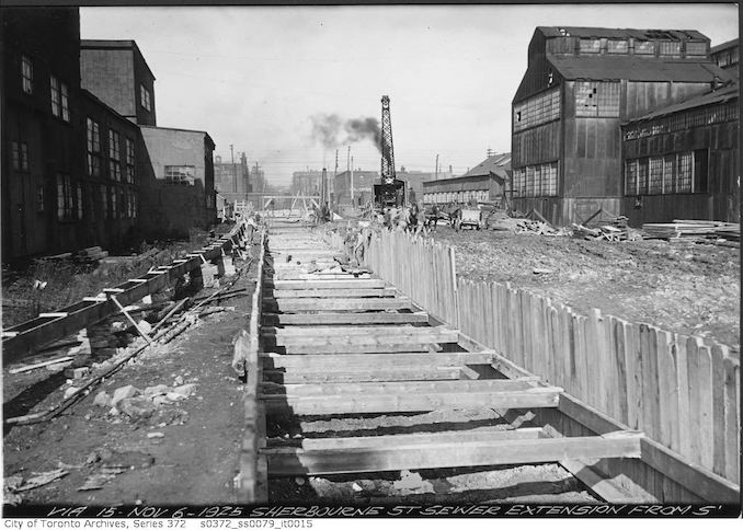 1925 - Sherbourne Street sewer extension from south