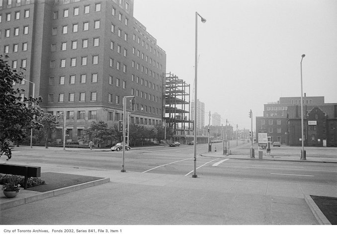 1972 - Bloor and Jarvis looking SW