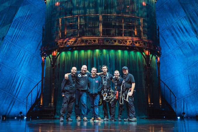 Cirque du Soleil's KOOZA Lighting Crew on stage