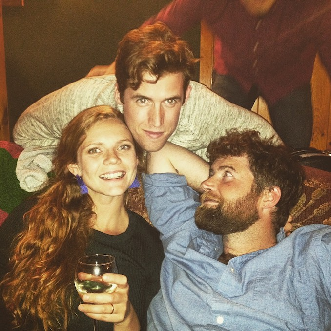 Kate Ross - Horsing around with my brothers, Toban and Sean, who I adore.