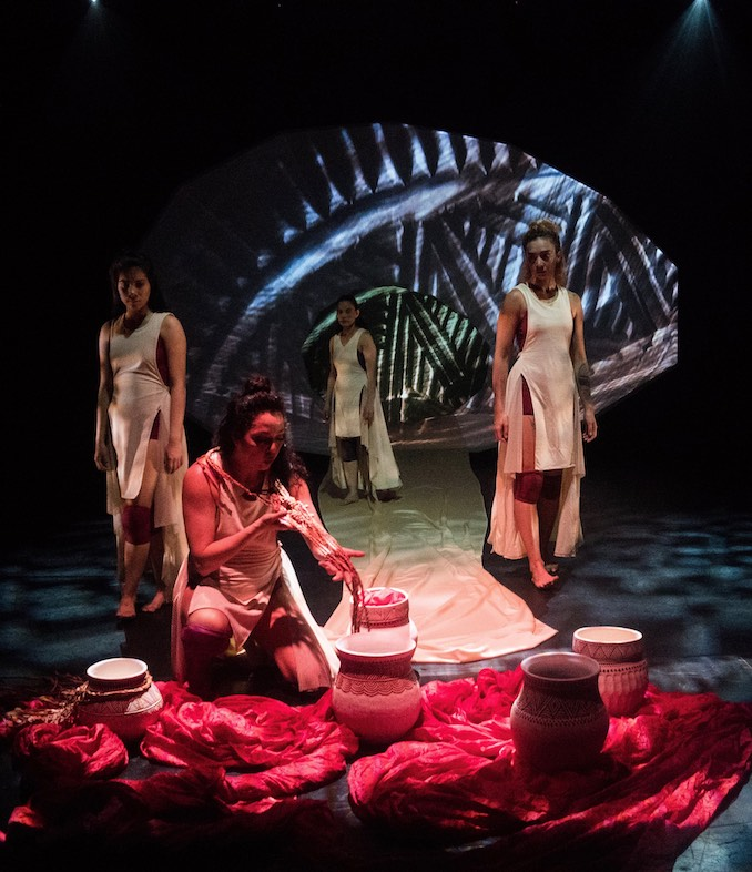 Premiere performance of Blood Tides, May 2018, FirstON Performing Arts Centre, St. Catharines, Celebration of Nations. Photo Credit: Ian R. Maracle.