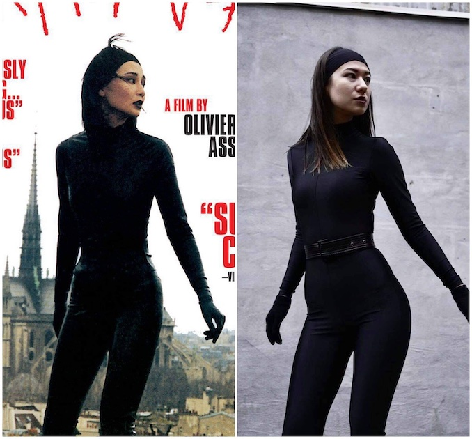 This year's Halloween costume inspired by badass Asian women in film: Maggie Cheung in Irma Vep.