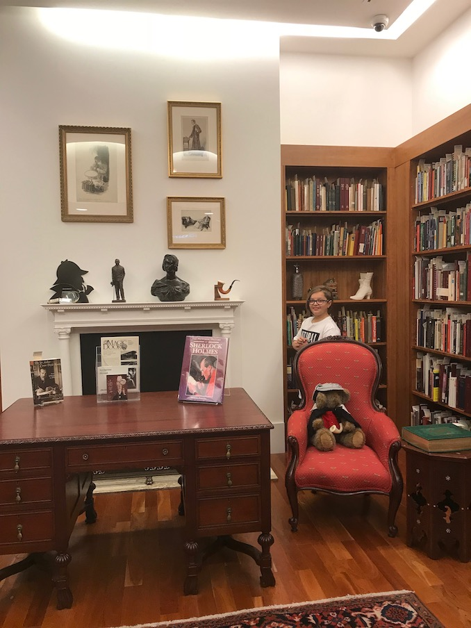 2. My youngest son explores the Sherlock Holmes room at the Toronto Reference Library while I wait for items from the special collections & rare books department.