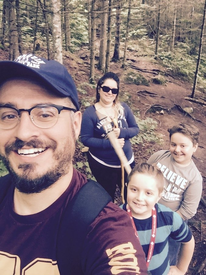 7. Hiking up in Algonquin Park with the wife and kids.