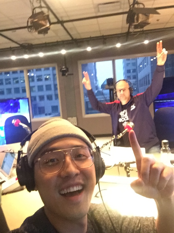 Here I'm promoting Good Morning, Viet Mom on CBC Radio's Here and Now. I'm being interviewed by my friend Ali Hassan.